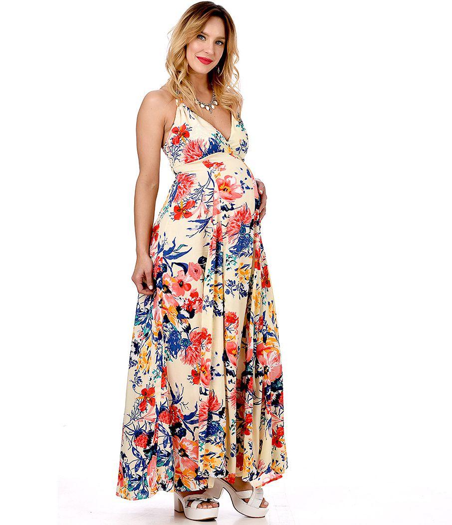 Vestido largo para embarazada